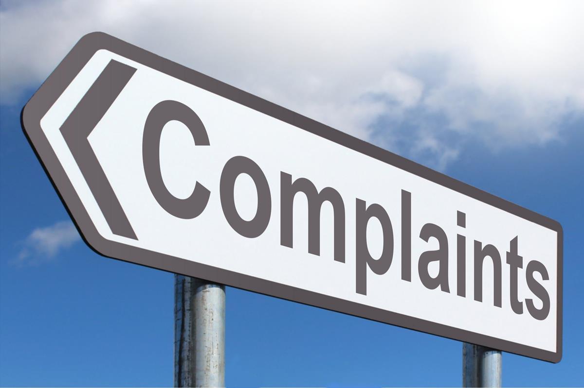 complaints sign