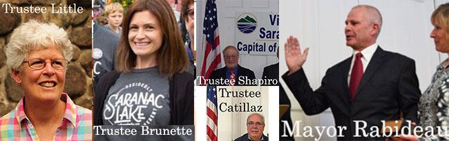 Trustee Little, Trustee Brunette, Trustee Shapiro, Trustee Catillaz and Mayor Rabideau comprise the
