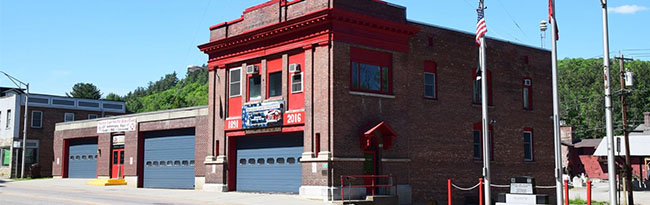 Saranac Lake fire department building